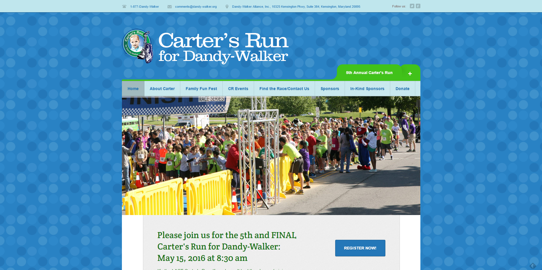 Carter's Run for Dandy Walker