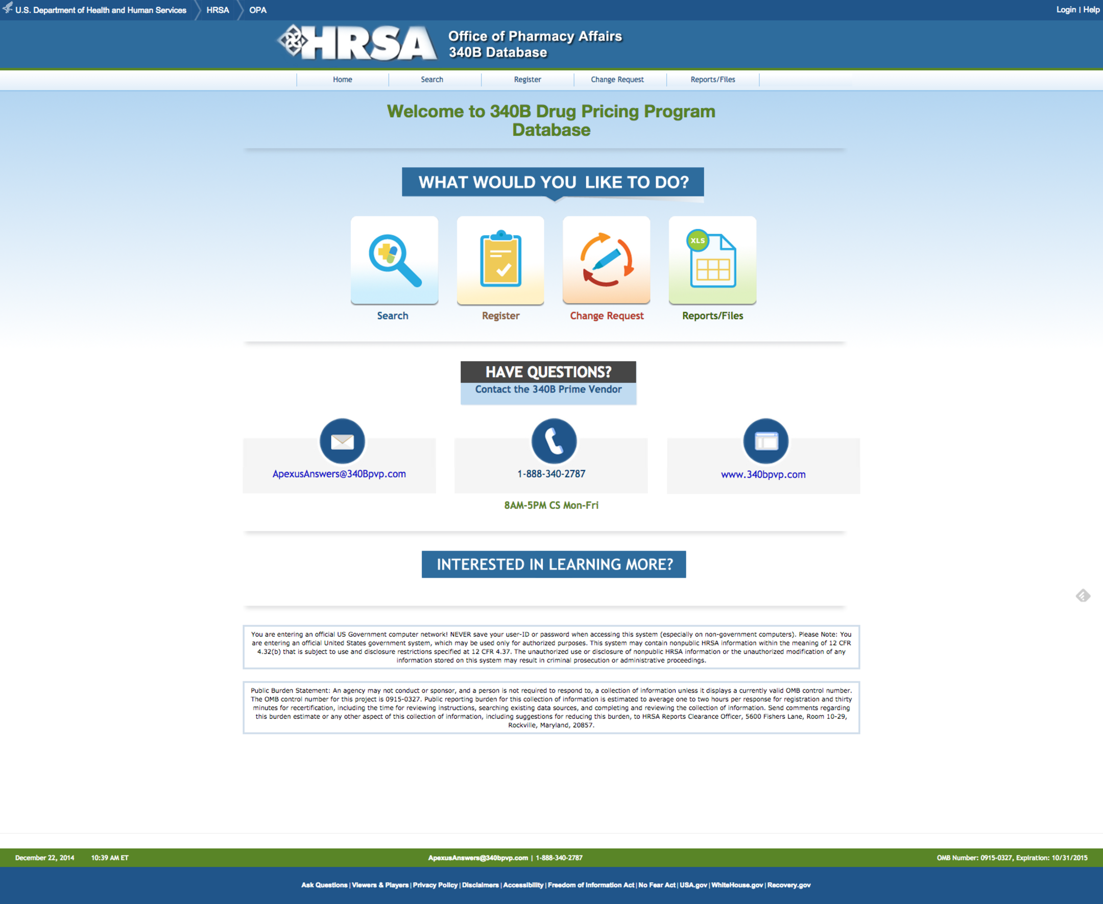 HRSA 340b Drug Pricing Program Database