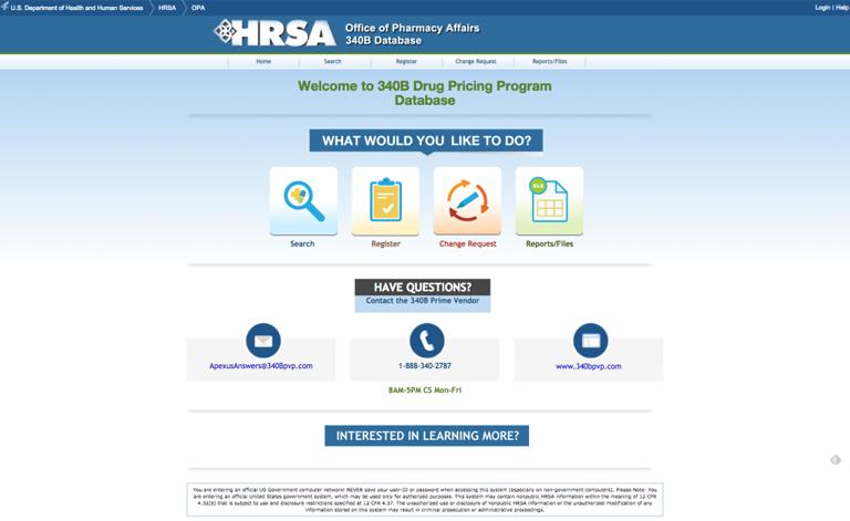 HRSA 340b Drug Pricing Program Database