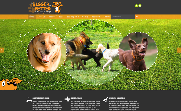 The Bigger The Better Canine Camp